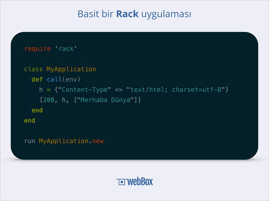 require 'rack' ! class MyApplication def call(e...