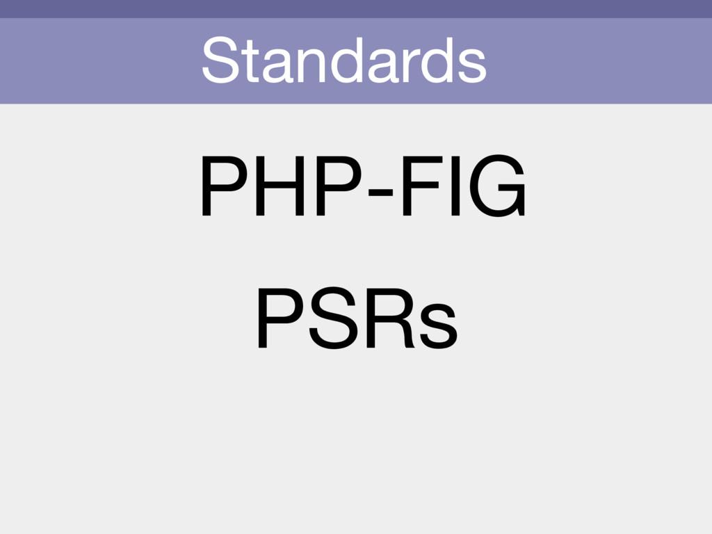 Standards PHP-FIG PSRs