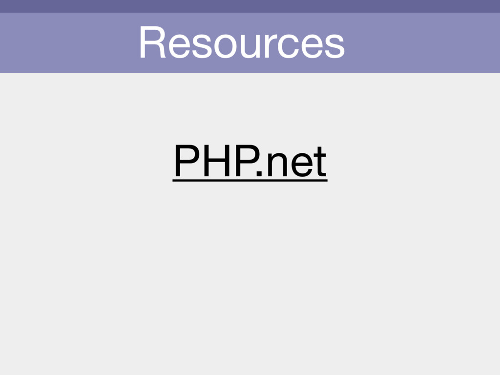 Resources PHP.net