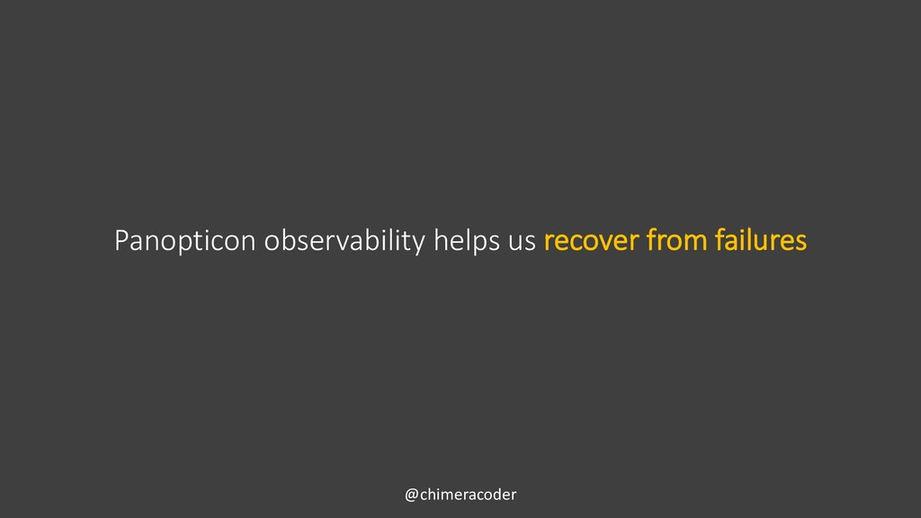 Panopticon observability helps us recover from ...