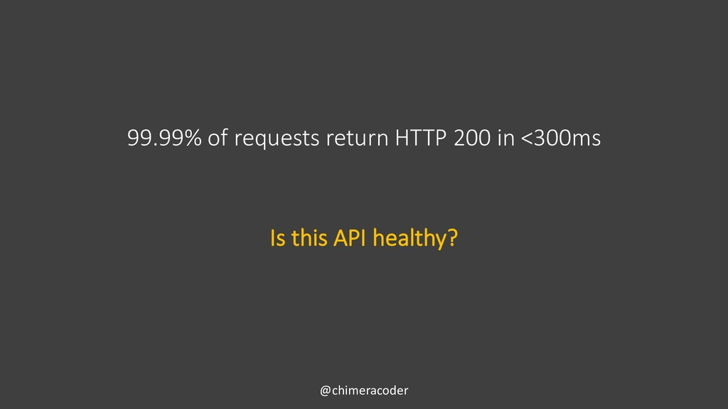 99.99% of requests return HTTP 200 in <300ms @c...