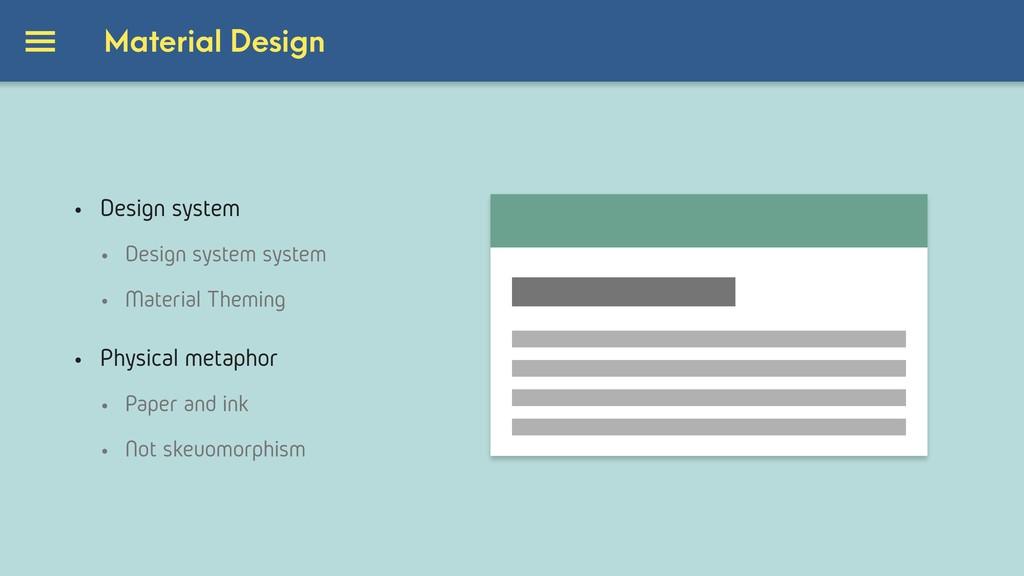 • Design system • Design system system • Materi...