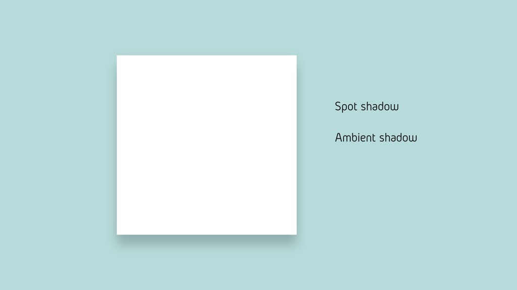 Ambient shadow Spot shadow