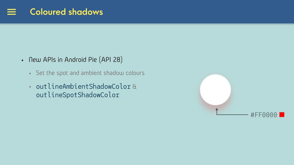 Coloured shadows #000000 #FF0000 • New APIs in ...
