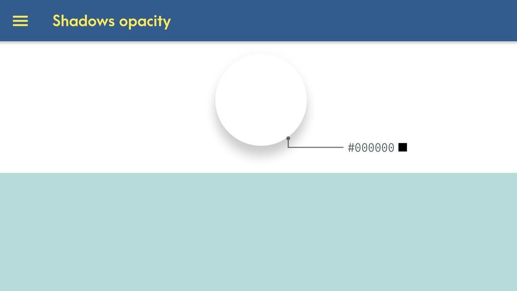 #000000 [ ] Shadows opacity