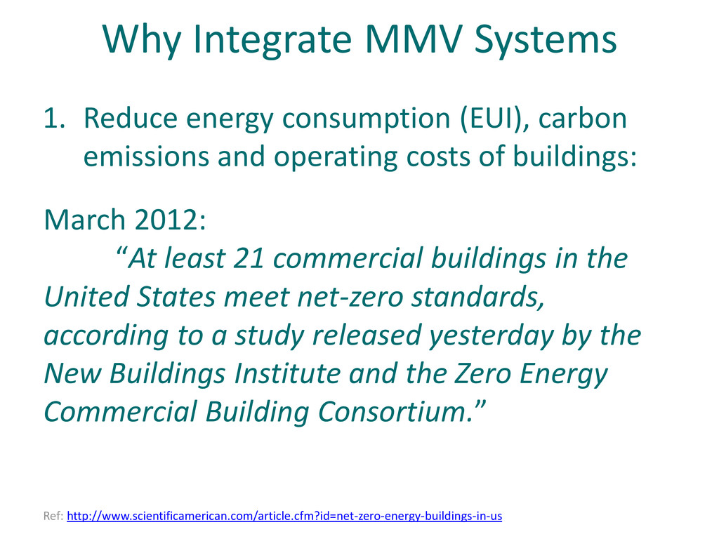 "Why Integrate MMV Systems March 2012: ""At least..."