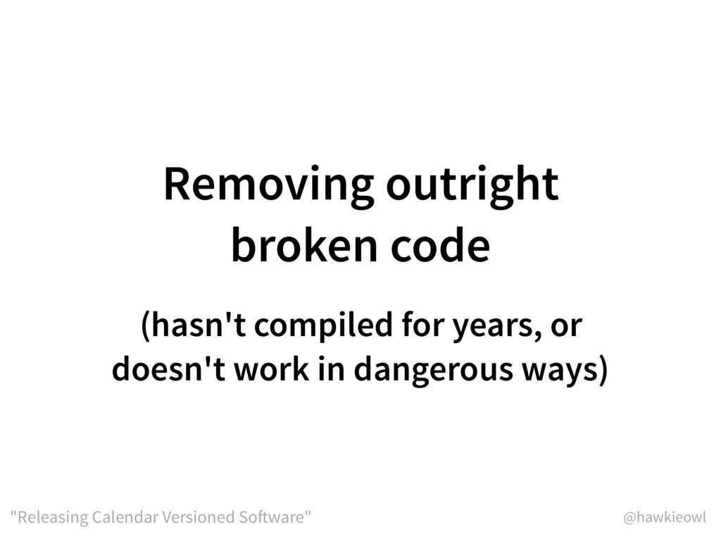 "@hawkieowl ""Releasing Calendar Versioned Softwa..."