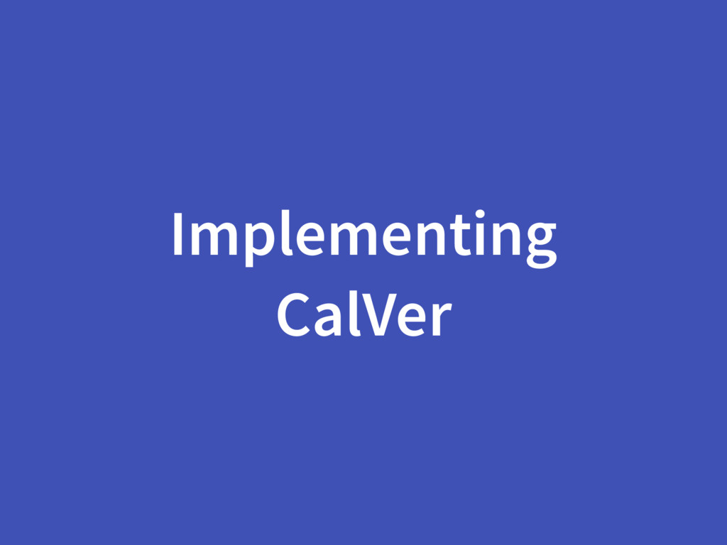 Implementing CalVer
