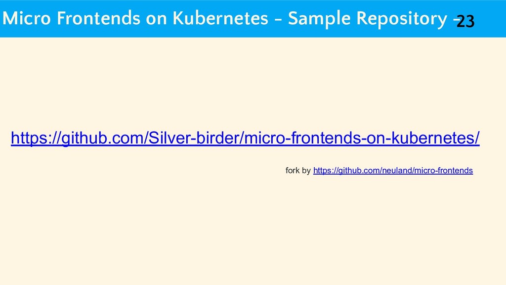 Micro Frontends on Kubernetes - Sample Reposito...