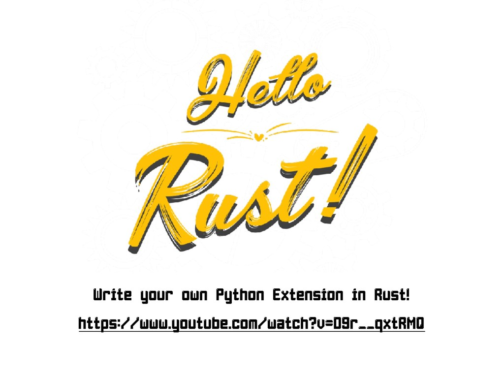 Write your own Python Extension in Rust!