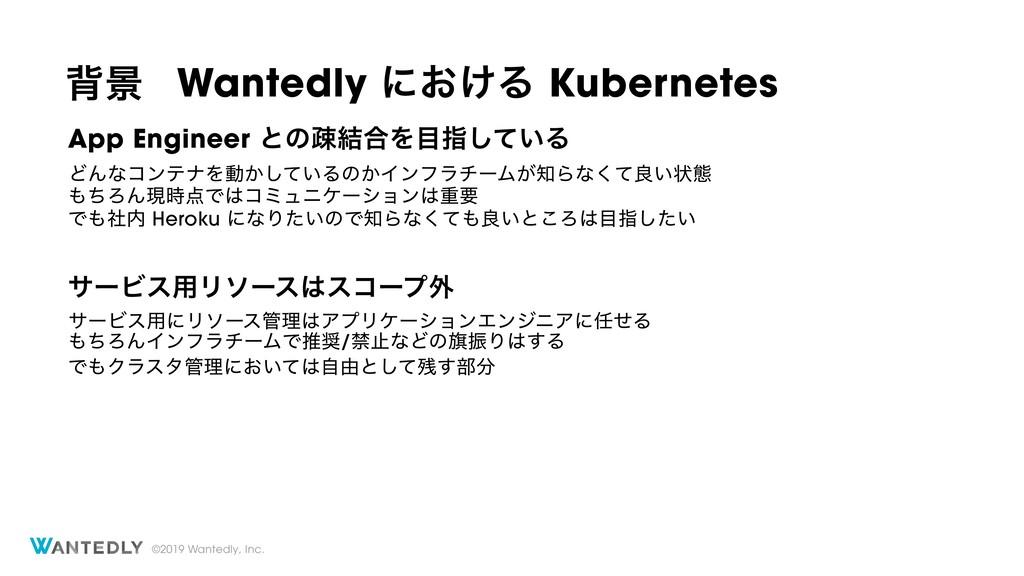 ©2019 Wantedly, Inc. എܠ Wantedly ʹ͓͚Δ Kubernete...