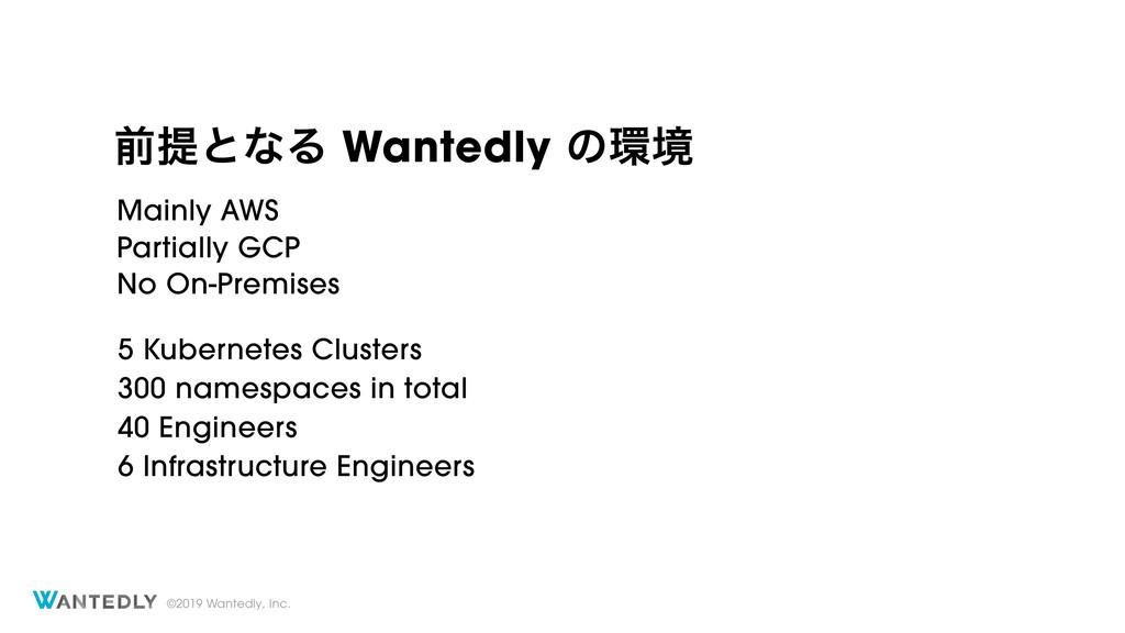 ©2019 Wantedly, Inc. લఏͱͳΔ Wantedly ͷڥ Mainly ...