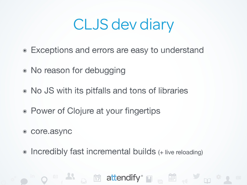 CLJS dev diary ๏ Exceptions and errors are easy...
