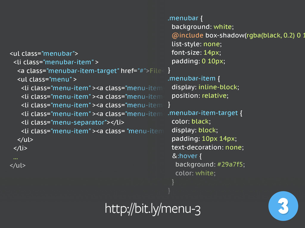 """<ul class=""""menubar""""> <li class=""""menubar-item"""" >..."""