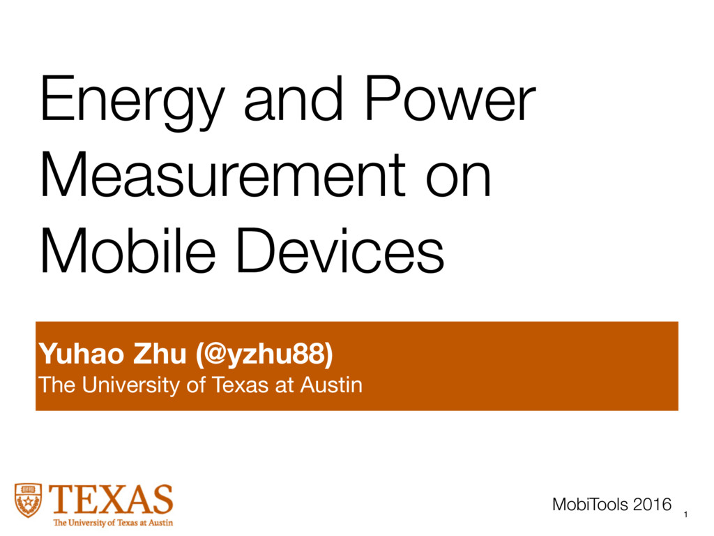 Energy and Power Measurement on Mobile Devices ...