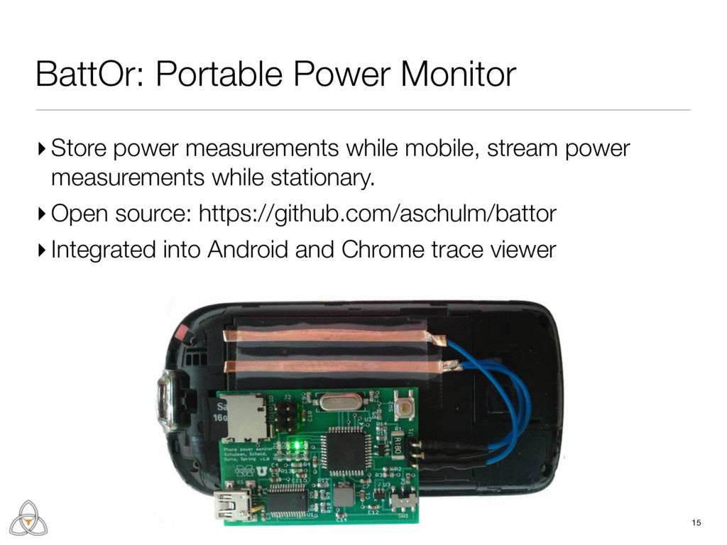 BattOr: Portable Power Monitor ▸ Store power me...