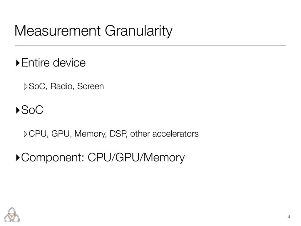 Measurement Granularity ▸Entire device ▹SoC, Ra...
