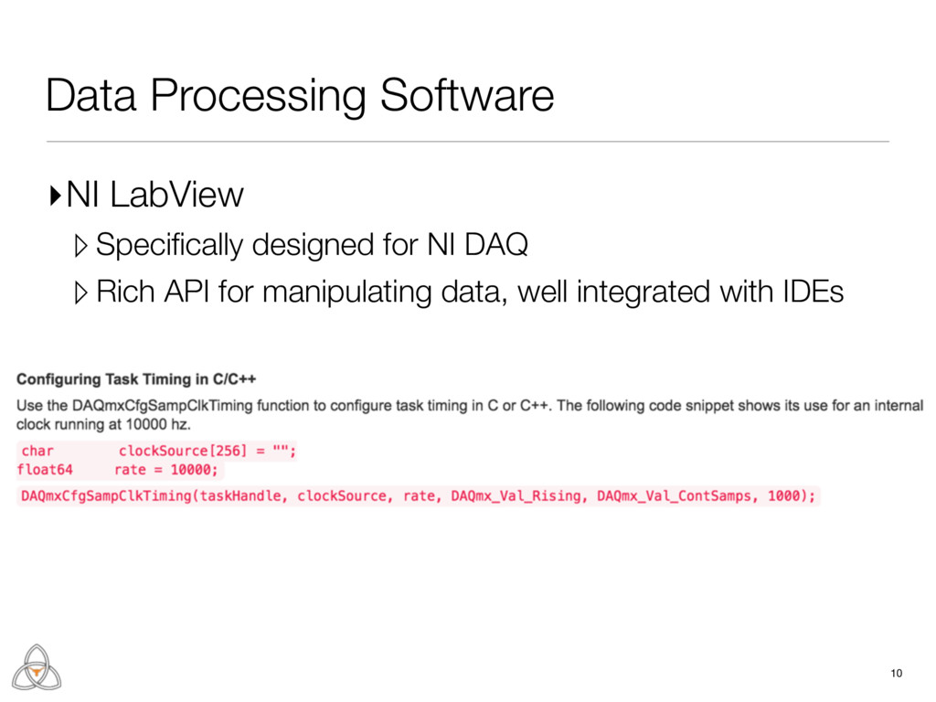 10 Data Processing Software ▸NI LabView ▹ Speci...