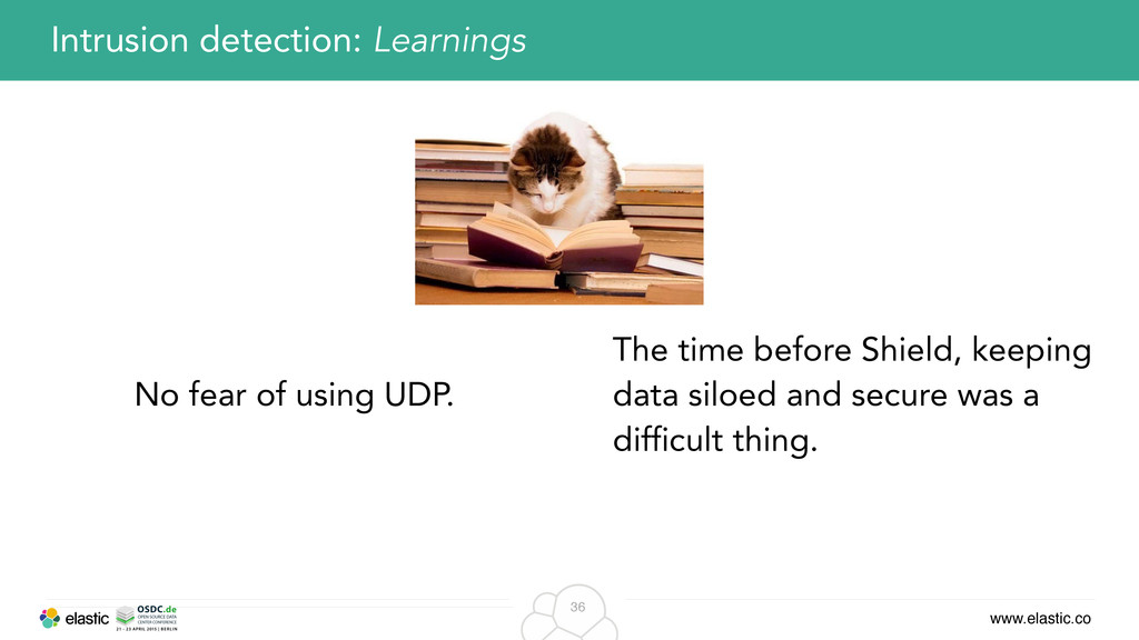 www.elastic.co 36 Intrusion detection: Learning...