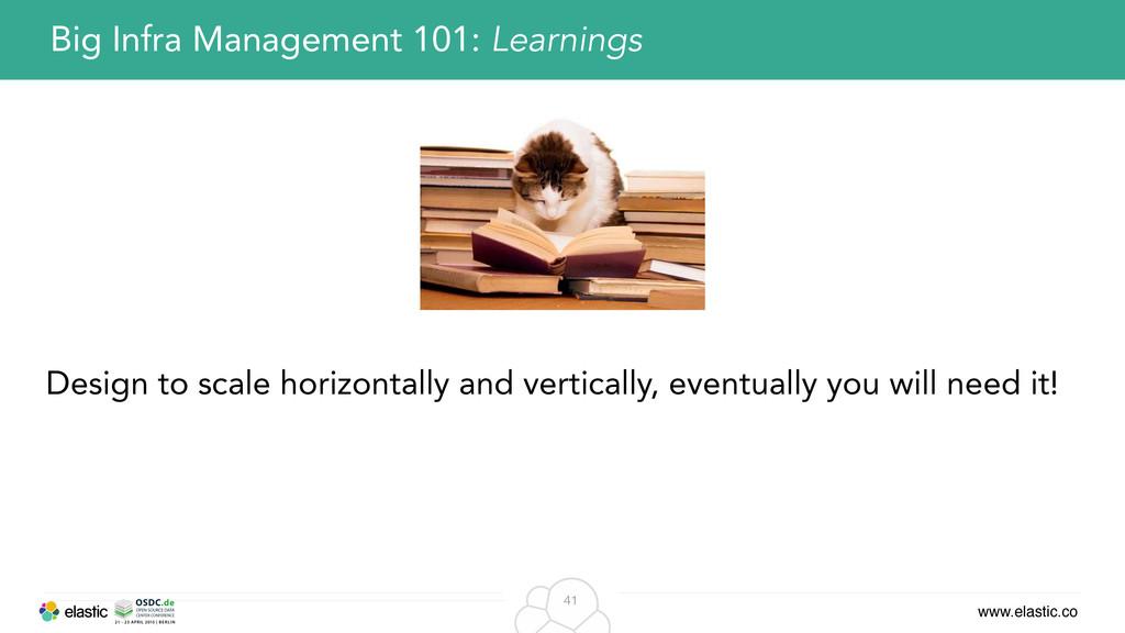 www.elastic.co 41 Big Infra Management 101: Lea...