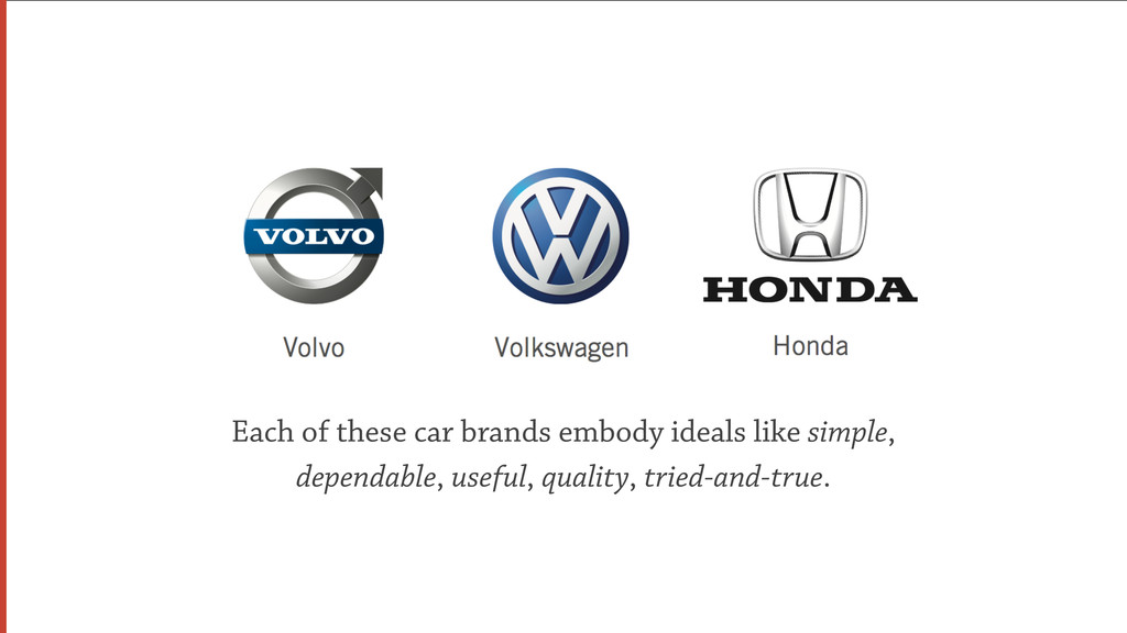 Each of these car brands embody ideals like sim...