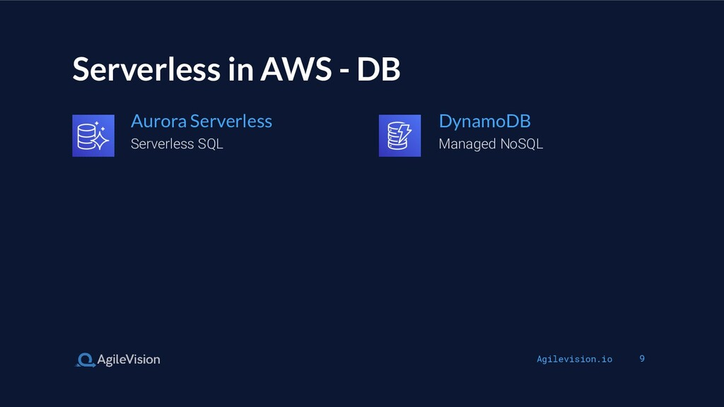 Agilevision.io 9 Serverless in AWS - DB Serverl...