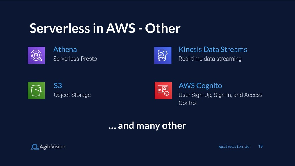 Agilevision.io 10 Serverless in AWS - Other Ser...