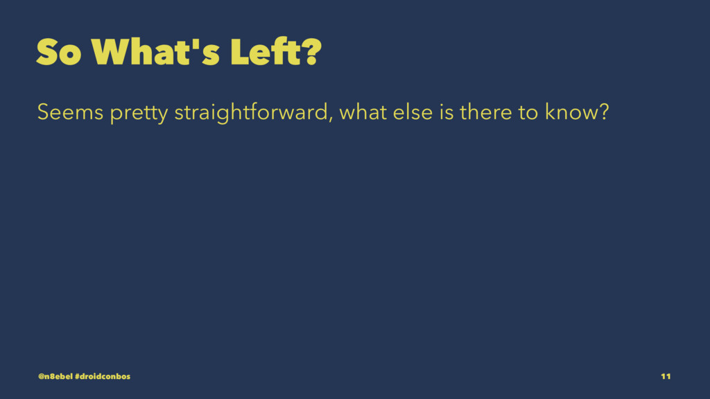 So What's Left? Seems pretty straightforward, w...