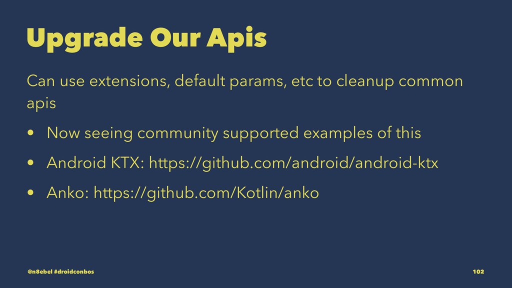 Upgrade Our Apis Can use extensions, default pa...