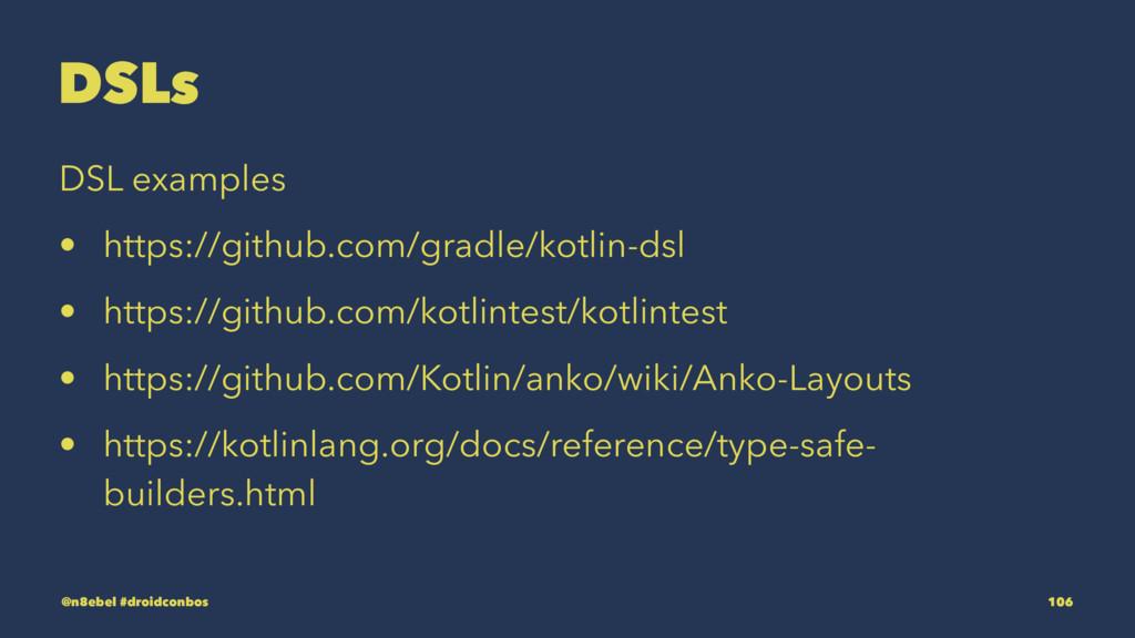DSLs DSL examples • https://github.com/gradle/k...