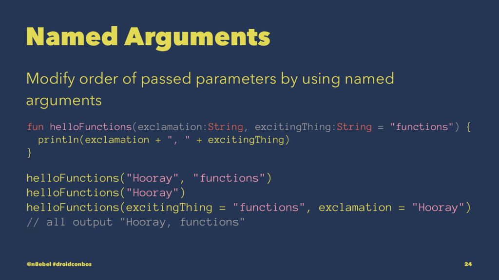 Named Arguments Modify order of passed paramete...