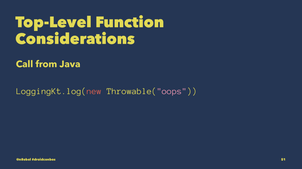Top-Level Function Considerations Call from Jav...
