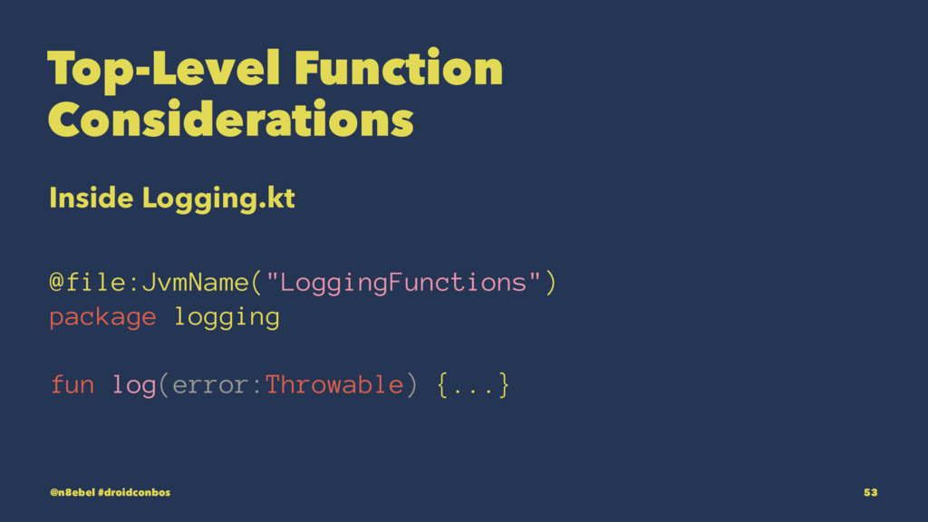 Top-Level Function Considerations Inside Loggin...