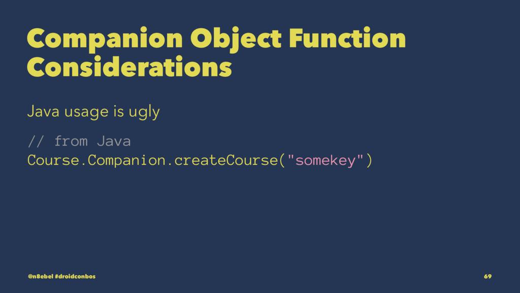 Companion Object Function Considerations Java u...