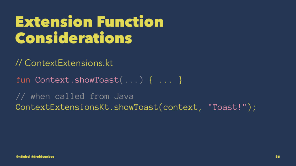 Extension Function Considerations // ContextExt...