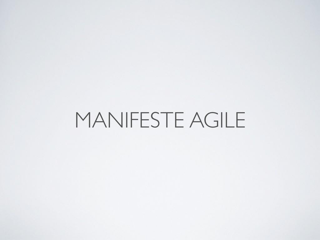 MANIFESTE AGILE