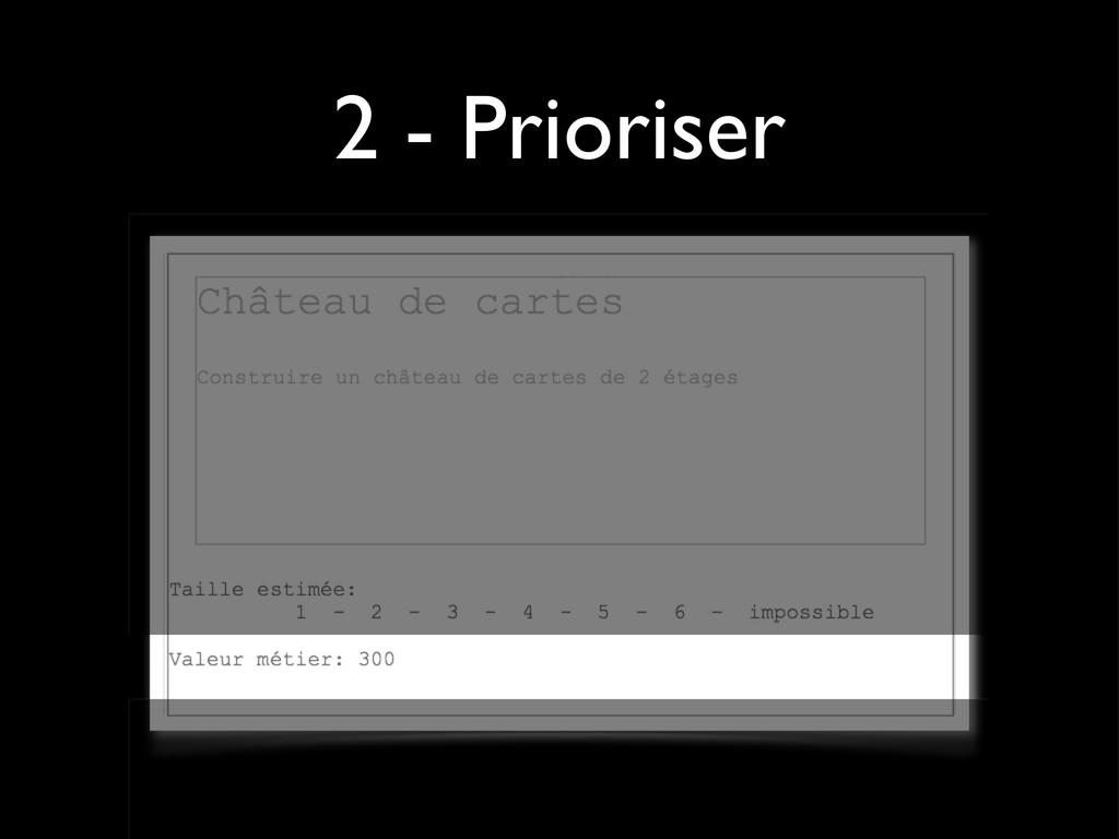 2 - Prioriser