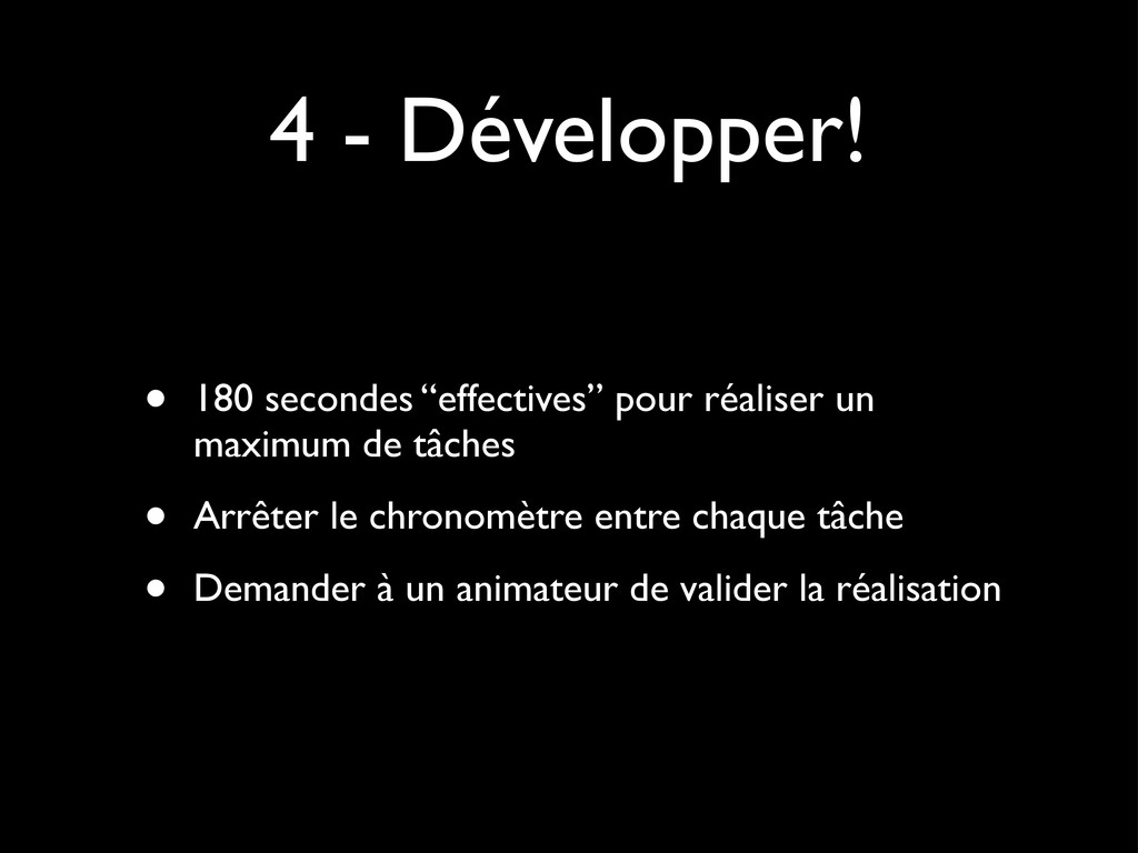 "4 - Développer! • 180 secondes ""effectives"" pou..."