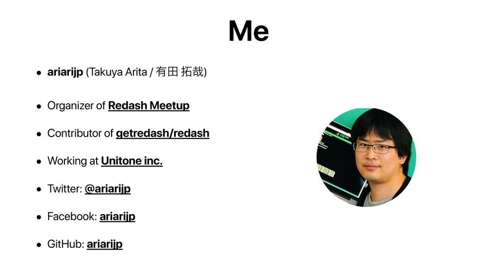 Me • ariarijp (Takuya Arita / ༗ా ࠸) • Organize...