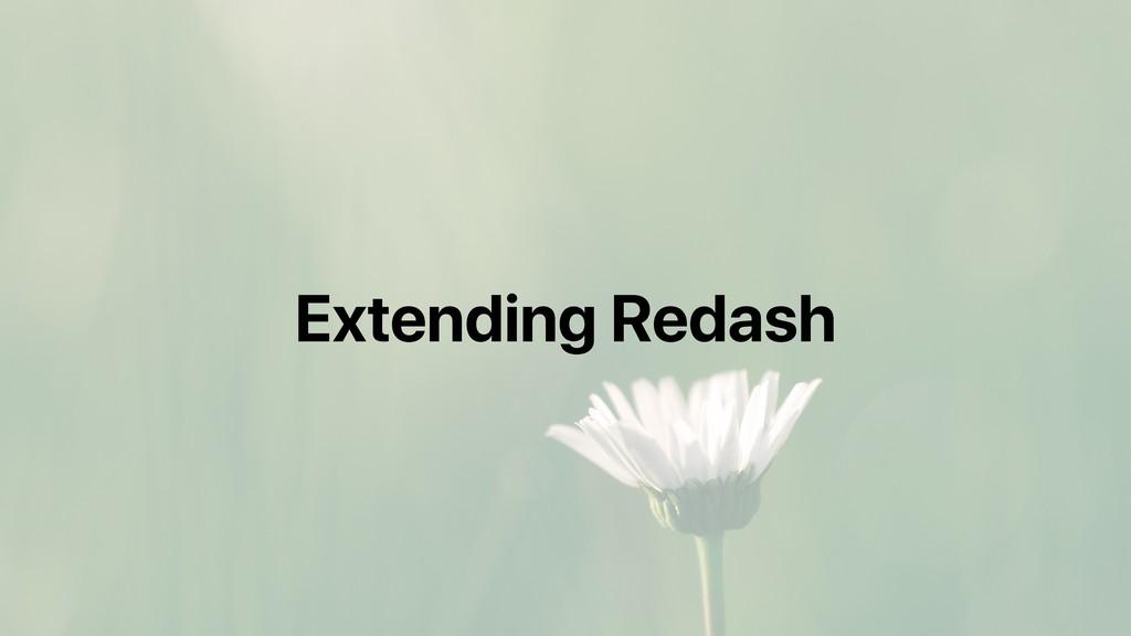 Extending Redash