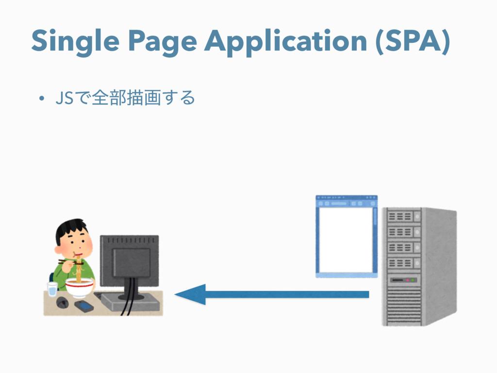 Single Page Application (SPA) • JSͰશ෦ඳը͢Δ