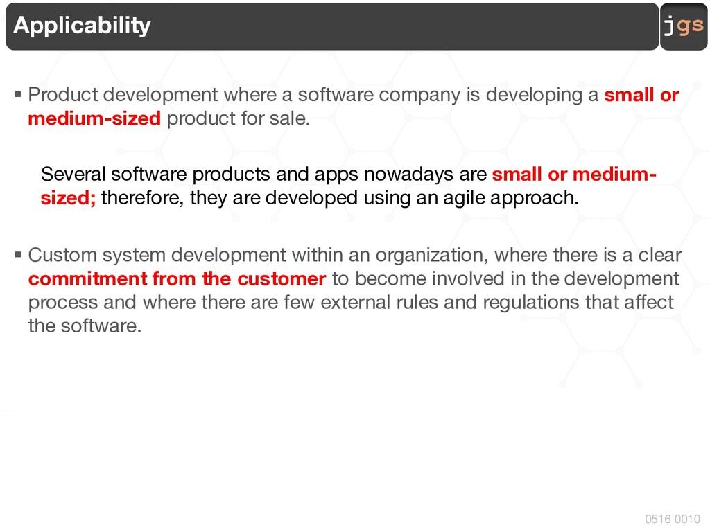 jgs 0516 0010 Applicability § Product developme...