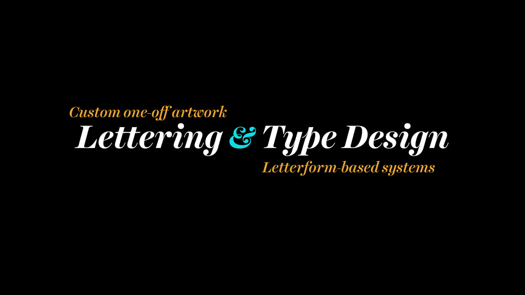 Lettering & Type Design Custom one-off artwork ...