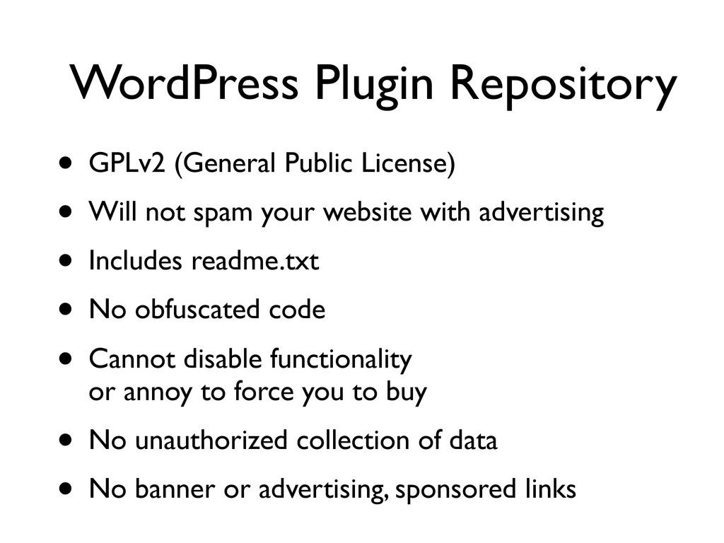 WordPress Plugin Repository • GPLv2 (General Pu...