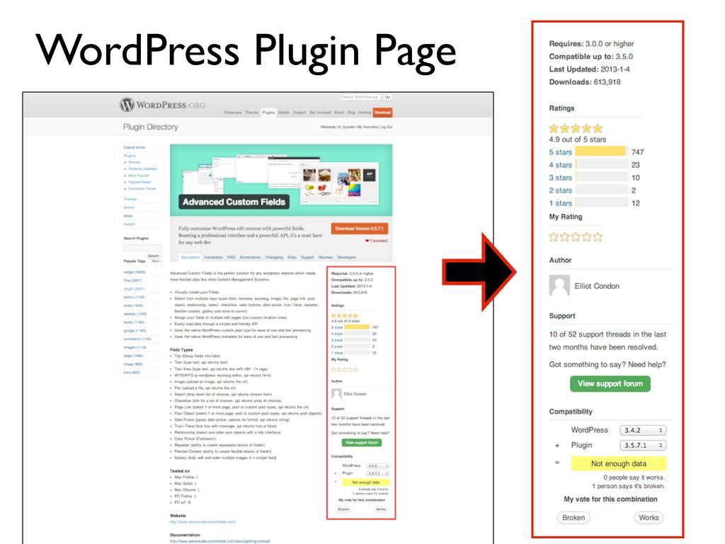 WordPress Plugin Page