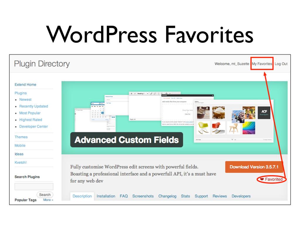 WordPress Favorites