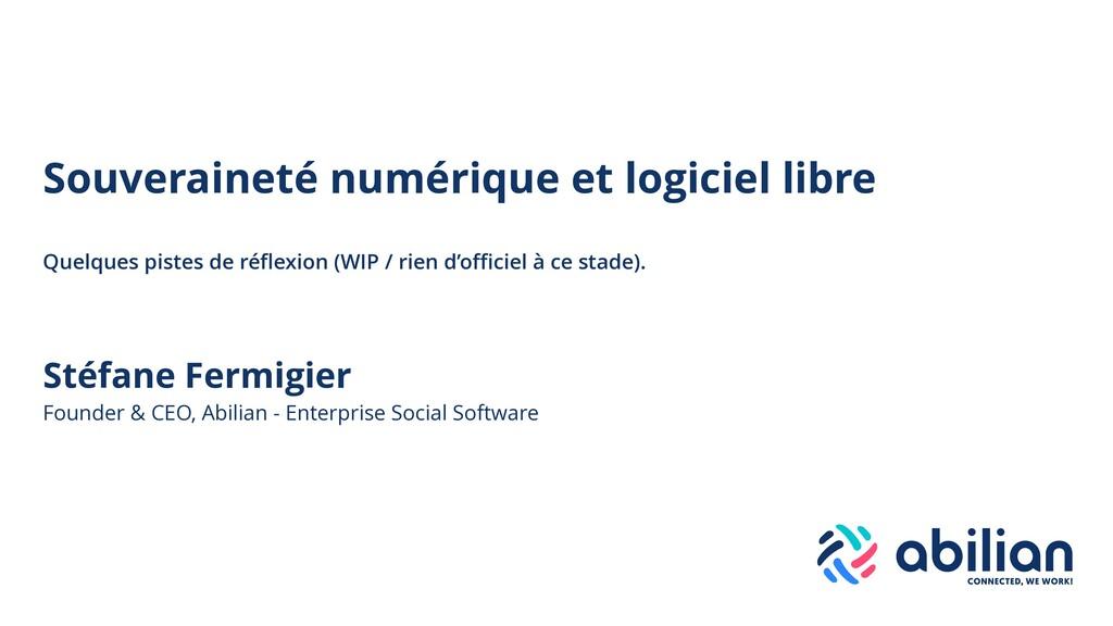 Stéfane Fermigier Founder & CEO, Abilian - Ente...