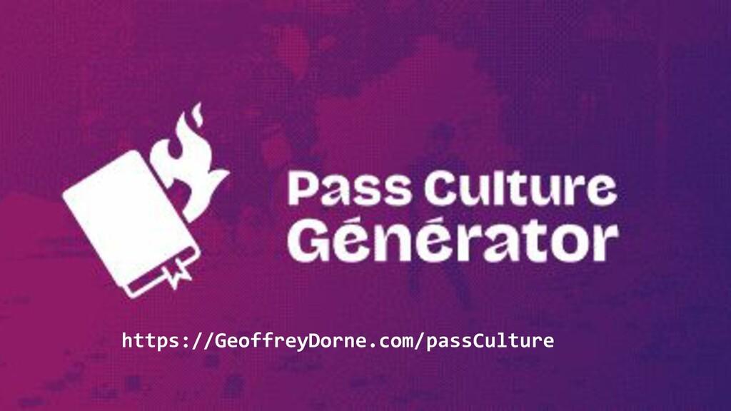 https://GeoffreyDorne.com/passCulture