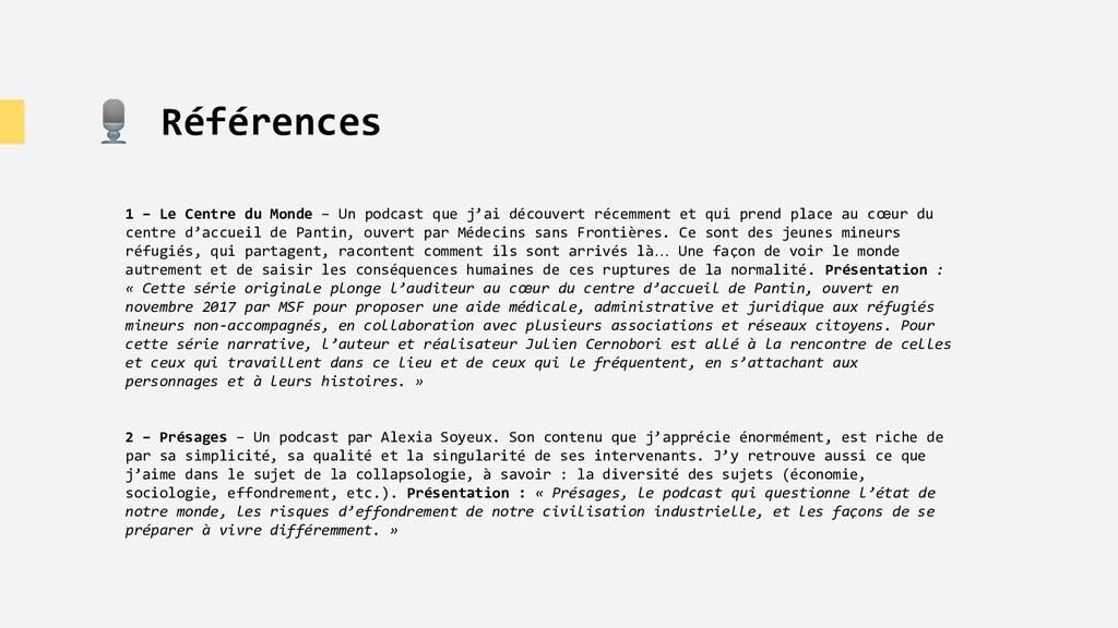 🎙 Références 1 – Le Centre du Monde – Un podcas...