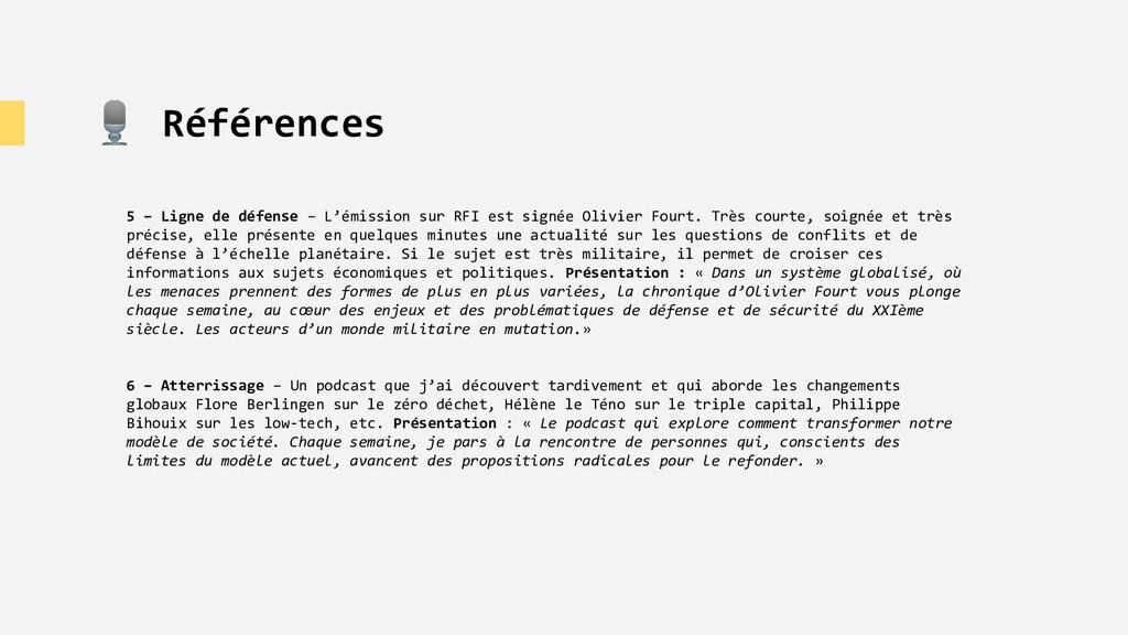 🎙 Références 5 – Ligne de défense – L'émission ...